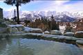 天神の湯では白馬連峰の眺めをたのしみながら、のんびり露天風呂でリラックスできます。ナトリウム泉・塩化物温泉は、疲労回復・慢性皮膚炎などに効能があり、さらさらとした泉質が自慢です。