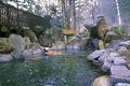 赤松林の香りに包まれながら、美術館巡り・温泉巡りができます。温泉は中房渓谷・有明温泉からの引き湯で、泉質はアルカリ単純温泉。無色透明でとても滑らかな肌触りが特徴です。農作業の疲れや痛みを和らげるのに一番-と、昔から地元の人たちも通う温泉です。